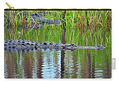 Carry-all Pouch featuring the photograph Later Gator by Al Powell Photography USA