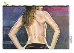Latina Gangsta Girl 2  Carry-all Pouch by Alban Dizdari