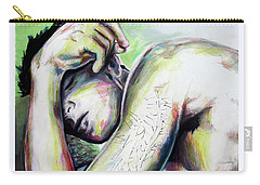 Carry-all Pouch featuring the painting Latitude And Logintude by Rene Capone