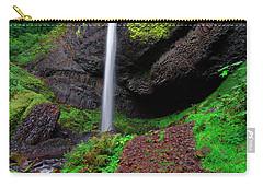 Latourell Falls Oregon Carry-all Pouch by Jonathan Davison