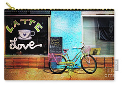 Carry-all Pouch featuring the photograph Latte Love Bicycle by Craig J Satterlee