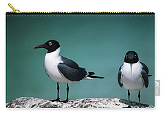 Laughing Gulls Carry-all Pouch by Sally Weigand