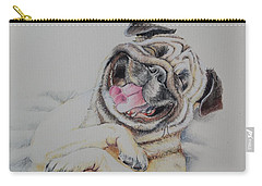 Laughing Pug Carry-all Pouch