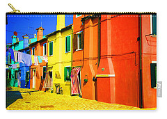 Carry-all Pouch featuring the photograph Laundry Between Chimneys by Donna Corless