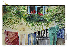 Laundry Day In France Carry-all Pouch by Jan Dappen
