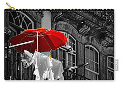 Laundry With Red Umbrella In Porto - Portugal Carry-all Pouch