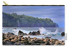 Carry-all Pouch featuring the photograph Laupahoehoe Point by DJ Florek