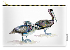 Laurel And Hardy, Brown Pelicans Carry-all Pouch by Amy Kirkpatrick