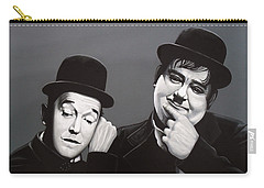 Laurel And Hardy Carry-all Pouch by Paul Meijering