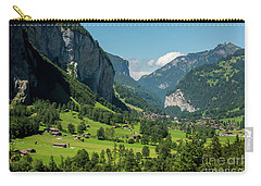 Carry-all Pouch featuring the photograph Lauterbrunnen Mountain Valley - Swiss Alps - Switzerland by Gary Whitton