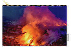 Lava And Ocean At Dawn Carry-all Pouch by Allen Biedrzycki