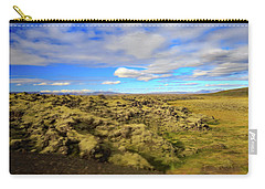 Lava Fields Of Iceland Carry-all Pouch by Allan Levin