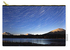 Carry-all Pouch featuring the photograph Lava Lake Star Trails by Cat Connor