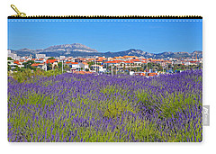 Lavendar Of Provence Carry-all Pouch by Corinne Rhode