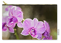 Lavendar Orchids Carry-all Pouch by Lana Trussell