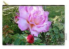 Carry-all Pouch featuring the photograph Lavendar Rose by Sadie Reneau