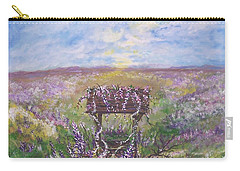 Lavendar Wishes Carry-all Pouch by Leslie Allen