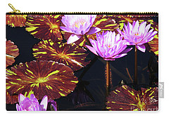 Lavender And Gold Carry-all Pouch