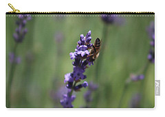 Lavender And Honey Bee Carry-all Pouch