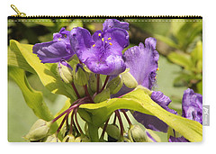 Lavender And Lime Carry-all Pouch by Deborah  Crew-Johnson
