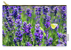 Lavender And The Heart Carry-all Pouch by Ryan Manuel