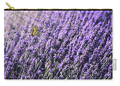 Lavender And Tiger Swallowtail In The Morning Light Carry-all Pouch by Diane Schuster