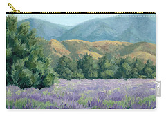 Lavender, Blue And Gold Carry-all Pouch by Sandy Fisher