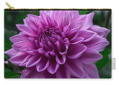 Lavender Dahlia Carry-all Pouch