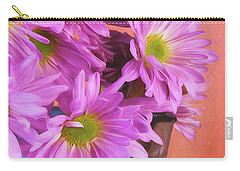 Lavender Daisies Carry-all Pouch
