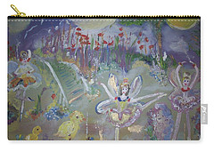 Lavender Fairies Carry-all Pouch by Judith Desrosiers