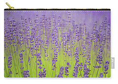 Carry-all Pouch featuring the photograph Lavender Fantasy by Jani Freimann