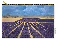 Carry-all Pouch featuring the painting Lavender Field by Anastasiya Malakhova