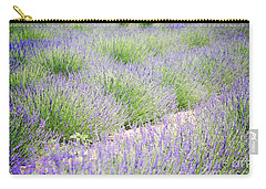 Lavender Field Farm Landscape Carry-all Pouch by Andrea Hazel Ihlefeld