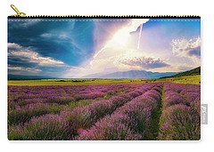 Lavender Field Panorama Carry-all Pouch