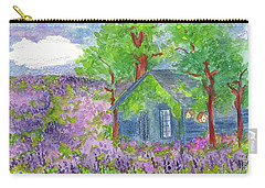 Carry-all Pouch featuring the painting Lavender Fields by Cathie Richardson