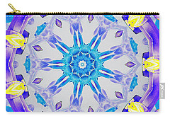 Carry-all Pouch featuring the digital art Lavender Floral by Shawna Rowe