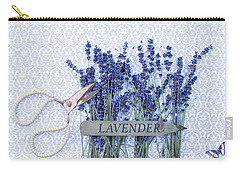 Carry-all Pouch featuring the photograph Lavender Garden by Rebecca Cozart