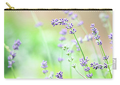 Carry-all Pouch featuring the photograph Lavender Garden by Trina Ansel
