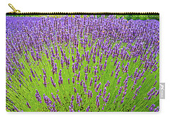 Carry-all Pouch featuring the photograph Lavender Gathering by Ken Stanback