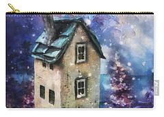Carry-all Pouch featuring the painting Lavender Hill by Mo T