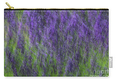 Carry-all Pouch featuring the photograph Lavender In The Wind by Rachel Cohen