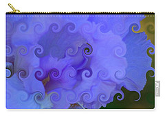 Lavender Curlicue Iris  Carry-all Pouch