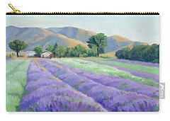 Lavender Lines Carry-all Pouch by Sandy Fisher