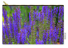 Carry-all Pouch featuring the digital art Lavender Patch by Chris Flees
