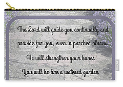 Lavender Path With Scripture Art Isiah 58 Carry-all Pouch