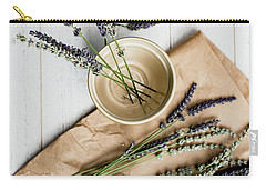 Carry-all Pouch featuring the photograph Lavender Still Life 1 by Rebecca Cozart