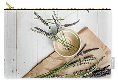 Carry-all Pouch featuring the photograph Lavender Still Life 2 by Rebecca Cozart