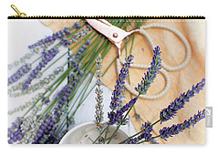 Carry-all Pouch featuring the photograph Lavender Still Life 3 by Rebecca Cozart