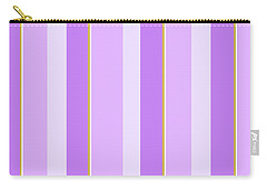 Carry-all Pouch featuring the mixed media Lavender Stripe Pattern by Christina Rollo