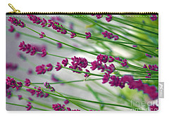 Carry-all Pouch featuring the photograph Lavender by Susanne Van Hulst